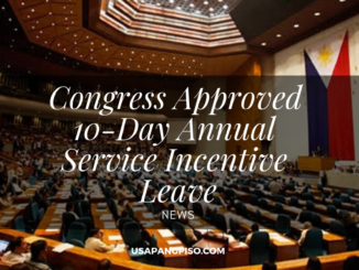 Congress Approved 10-Day Annual Service Incentive Leave