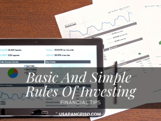 Basic And Simple Rules Of Investing