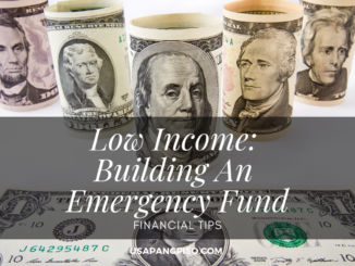 Low Income Building An Emergency Fund