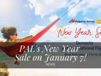 PAL's New Year Sale on January 7!