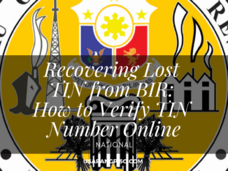 Recovering Lost TIN from BIR: How to Verify TIN Number Online