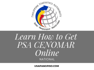 Learn How to Get PSA CENOMAR Online