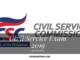 Professional and Sub-Professional: Civil Service Exam Schedule 2019