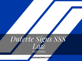 Duterte Signs Law to Provide at Least P10,000 Monthly Unemployment Insurance for SSS Member