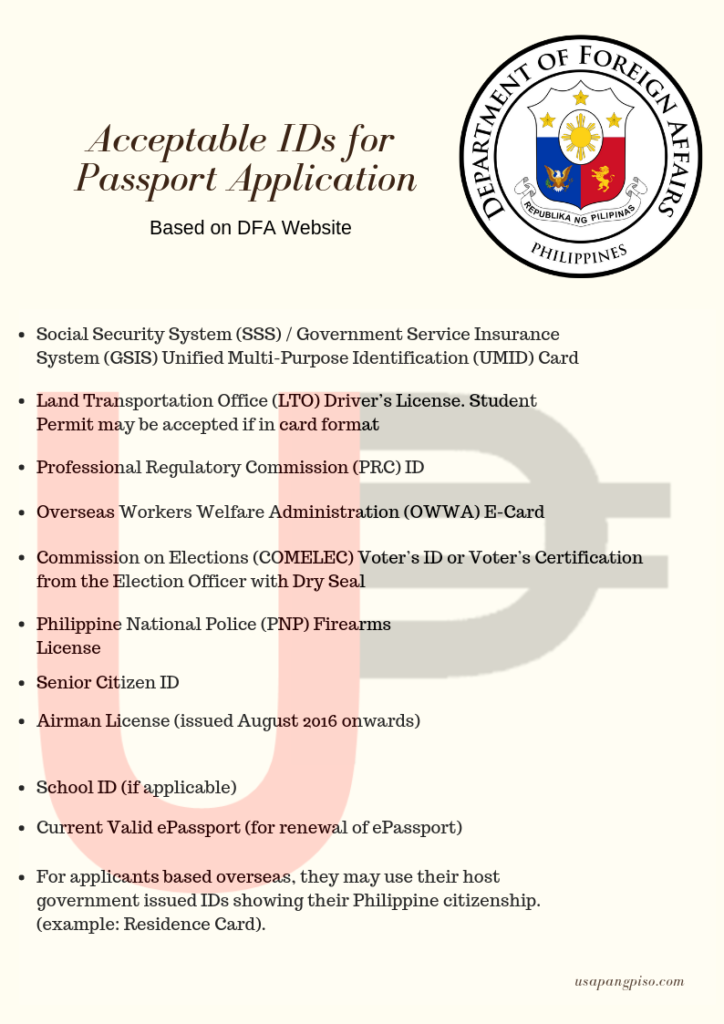 DFA Will Be Accepting Postal ID for Passport Applications