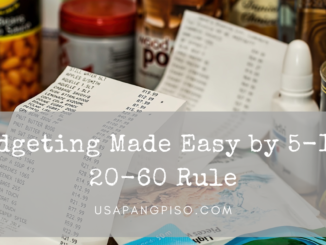 Budgeting Made Easy by 5-15-20-60 Rule