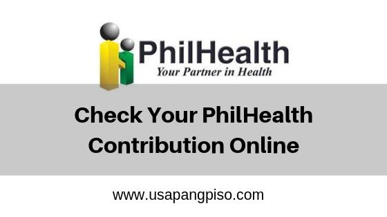 Check Your PhilHealth Contribution