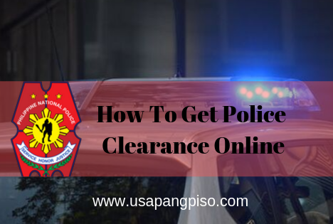 Get Police Clearance Online
