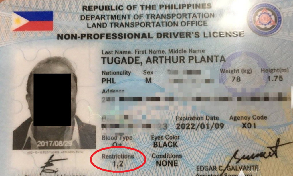Driver's License Restriction Codes